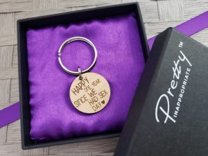 happy one year since we had sex day keychain