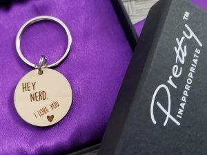 hey nerd i love you keychain