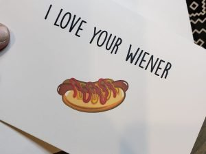 i love your wiener greeting card