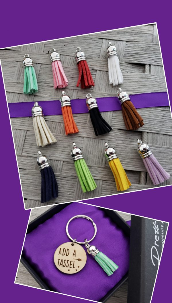 add a tassel picture. 12 colors to choose from