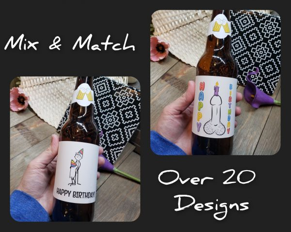 beer labels happy birthday mix and match
