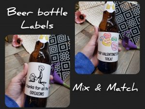 beer labels valentines mix and match