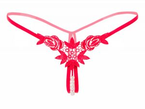 red pearl thong underwear